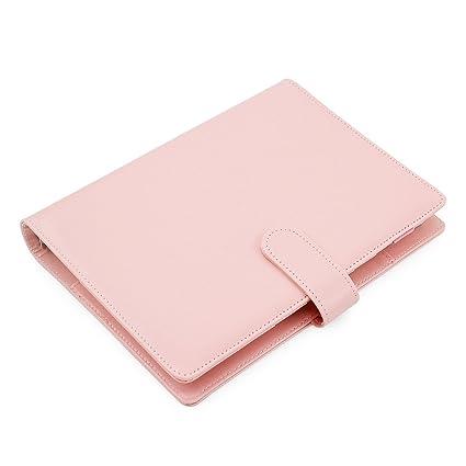 Agenda Laconile A5, de piel sintética. Cuaderno con espiral de alambre, planificador semanal y mensual, bolsillo interior y soporte para bolígrafo, ...