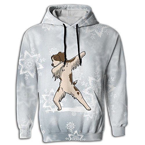 Frouren Funny Dabbing Brittany Spaniel Dog Youth Hoodie (Brittany Youth Sweatshirt)