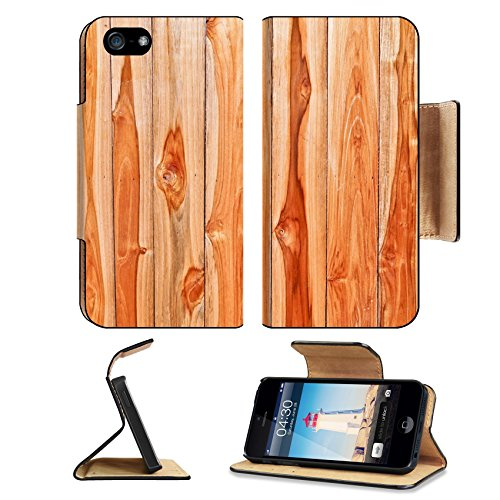Luxlady Premium Apple iPhone 5 iphone 5S Flip Pu Leather Wallet Case iPhone5 IMAGE ID: 24863310 teak wood texture teak plank wall - Teakwood Panel