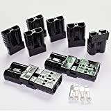 X-Haibei 10 (5 pair) Battery Quick Connector Kit 50A 8AWG Plug Connect Disconnect Winch Trailer Black