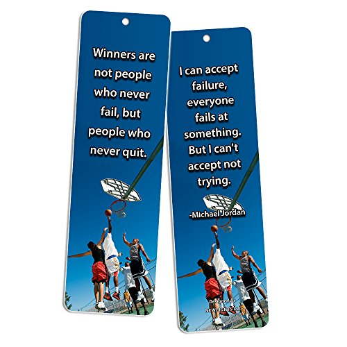 low-cost NewEights Sports Inspirational Quotes Bookmark Set