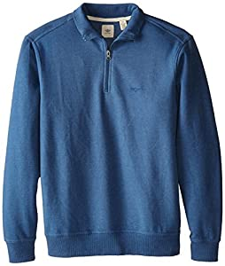 Dockers Men's 1/4 Zip Fleece Knit, Star Sapphire Heather, X-Large