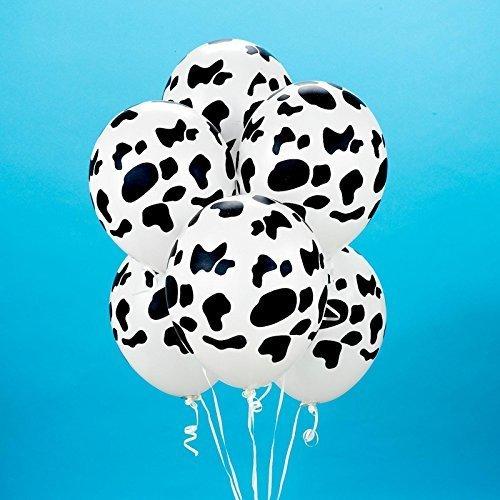 (Cow Print Balloons (6))