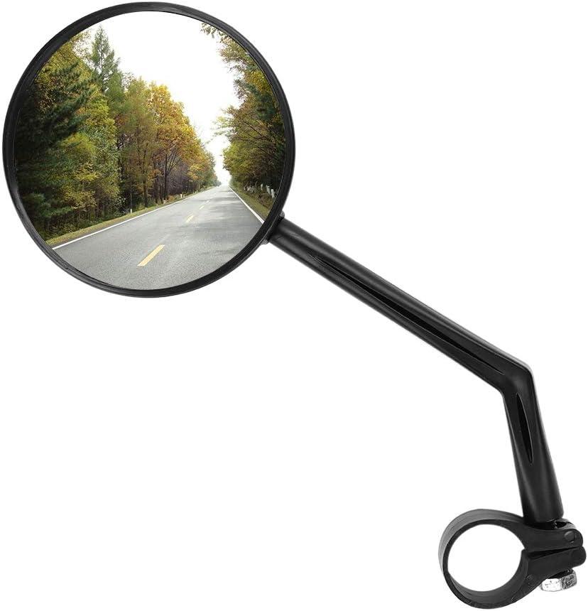 itoda accesorios bicicleta espejo retrovisor bicicleta Ciclismo Moto Universal de plástico espejo de retrovisor Reflector ajustable 360grado ajuste para montaña/E Bike/Moto/cochecito/silla de ruedas