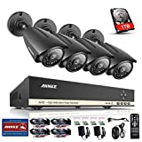 ANNKE 8-Channel 1080N Video DVR with 1TB Surveilla...