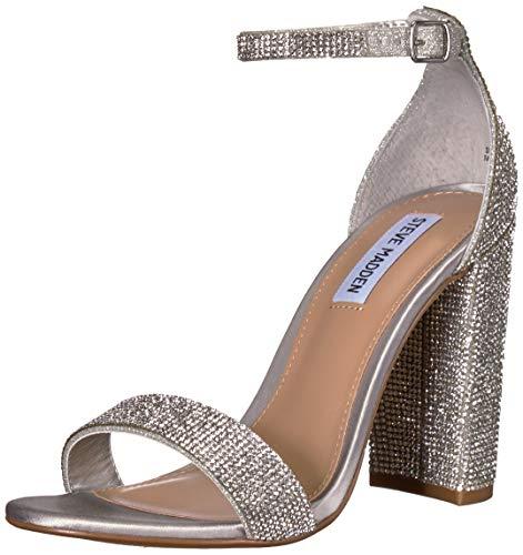 (Steve Madden Women's Carrson-R Heeled Sandal, Crystal, 6.5 M US)