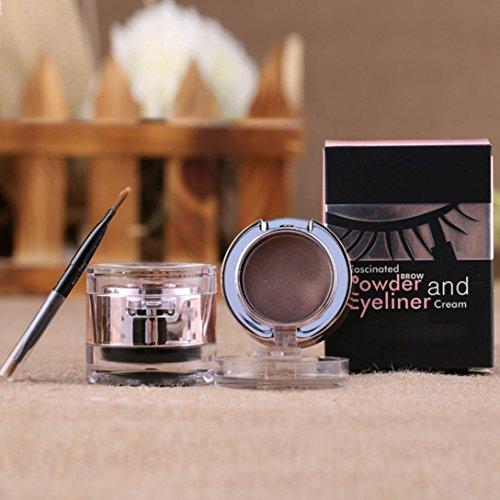 Lookatool Waterproof Eyebrow Powder Eyeliner Gel Set With Definer Brush (Gray Gouache)
