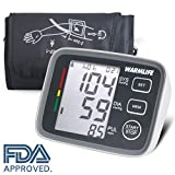 Warmlife Automatic Digital Upper Arm Blood Pressure Monitor with Large Cuff, FDA Approved (Black)