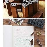 70 Pcs Alphabet Stamps Multipurpose Number Alphabet