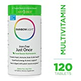 Cheap Rainbow Light – Just Once Iron-Free Multivitamin – Food-based, Natural Ingredients, Provides Key Vitamins, Minerals, Antioxidant Protection, Supports Energy, Skin, Eye and Immune Health – 120 Tablets