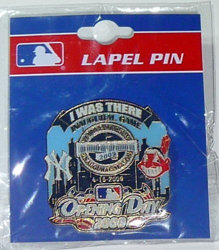 - YANKEE STADIUM HOUSE THAT GEORGE BUILT INAUGURAL OPENING DAY PIN 2009 vs INDIANS
