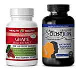 Product review for immune system booster - GRAPE SEED EXTRACT – GREY HAIR SOLUTION - zinc copper - 2 Bottles Combo (30 Capsules + 60 Capsules)