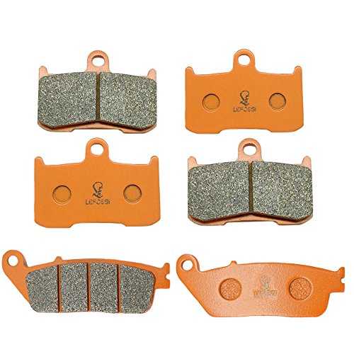 Lefossi Front Rear Carbon Fiber Brake Pads Brakes for Victory Cross Country 10-16 Cross Country Tour 12-15 FA347F FA347F FA196R