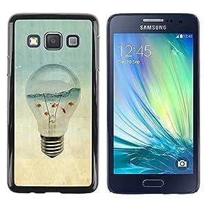 Be Good Phone Accessory // Dura Cáscara cubierta Protectora Caso Carcasa Funda de Protección para Samsung Galaxy A3 SM-A300 // Aquarium Gold Fish Ocean Sea Art Light Bulb