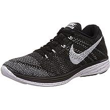 Nike Flyknit Lunar 3 Men US 7.5 Black Running Shoe