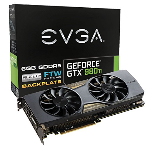 EVGA GeForce GTX 980 Ti 6GB FTW GAMING ACX 2.0+, W...