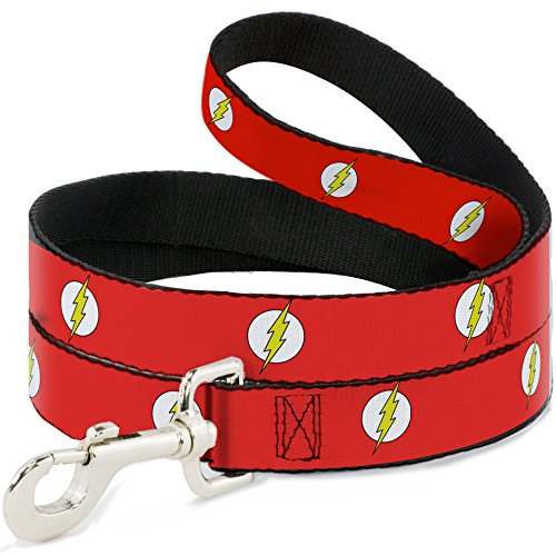 Buckle Down Dog Leash Flash Logo Red White Yellow 6 Feet Long 1.0 Inch Wide