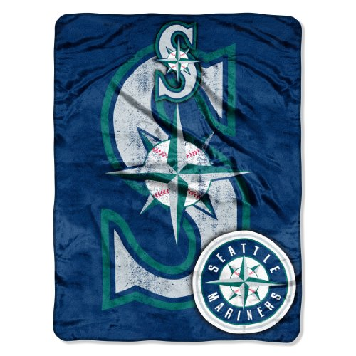 "Officially Licensed MLB Seattle Mariners Triple Play Micro Raschel Throw Blanket, 46"" x 60"""