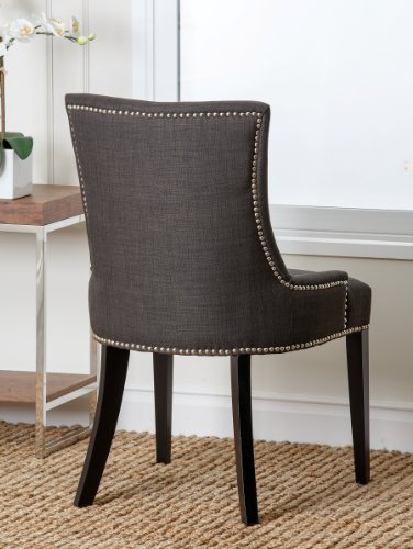 Amazoncom Abbyson Annalise Fabric Nailhead Trim Dining Chair