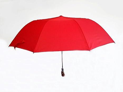 Paraguas Grande Hombre Negro/Gris/Verdone antiviento plegable – Diámetro 120 cm – de