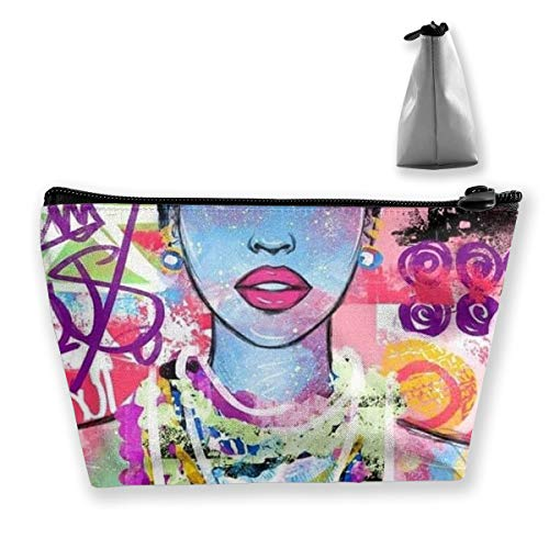 MODREACH Afro Lady African American Black Women Girls Trippy Graffiti Art Pencil Case Bag Zipper Bag Coin Bag Makeup Bag Pouch Storage Bags Large Capacity Pen Holders for Kids Boys Girls Women Gift