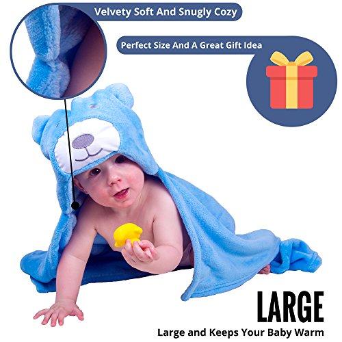 3e320ef464 Baby Boy Girl Bath Plush Robes Bear Hooded Blanket with ...