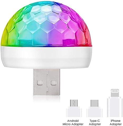 Colorful Mini USB LED Mini Light Lamp for Car Atmosphere Lamp Bright 5 Colors