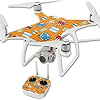 MightySkins Protective Vinyl Skin Decal for DJI Phantom 4 Quadcopter Drone wrap cover sticker skins Pop Art
