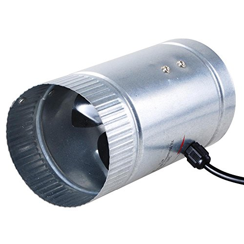 Yescom 4' Inline Duct Booster Fan Aluminum Blade Hydroponics Grow Tent Cooling Ventilation Exhaust Air Blower