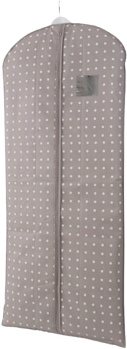 Compactor Rivoli Dress/Garment Cover Bag with See-Thru Window - Brown with White dots - Size 23x54in
