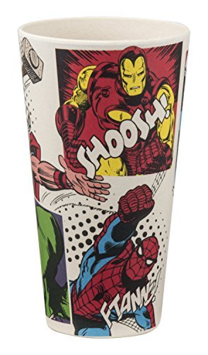 Vandor 26005 Marvel 24 Ounce Bamboo Tumblers, 2 Piece Set, Multicolored