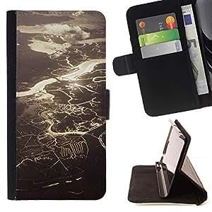 Momo Phone Case / Flip Funda de Cuero Case Cover - Ver Ríos Lagos Sol - Samsung Galaxy S5 Mini, SM-G800