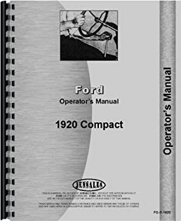 ford 1920 tractor operators manual ford 6301147662033 amazon com rh amazon com ford 1920 tractor parts manual ford 1920 tractor parts manual