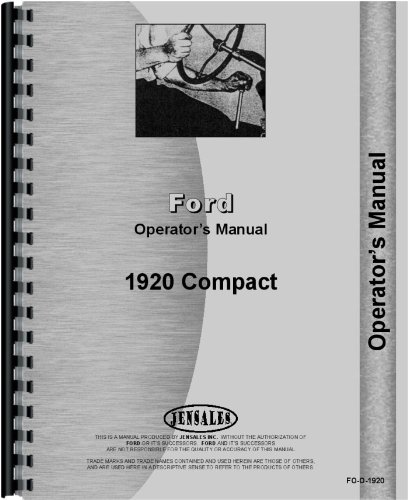 Ford 1920 Tractor Operators Manual