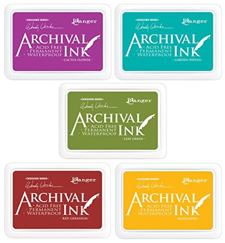 (Ranger - Wendy Vecchi Archival Ink Pads - 5 item Bundle)