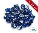 Cheap LI DECOR 10 Pounds Fire Glass Fire-Diamonds Semi-Reflective for Fire Pit Glass,Fireplace Glass Rocks,Fireplace Decor,Fire Pit Accessories,1-Inch,Cobalt Azure Luster (Blue)