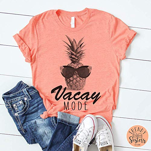 Summer Tee, Vacay Mode, Pineapple, Summer Vibes, Fashion Trends, Bella Canvas, XS-4XL, Gifts fir her, Funny Tees, Graphic Tee, Vacation T-shirt, Athletic Apparel