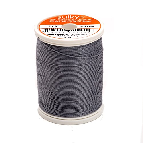 Sulky Of America 660d 12wt 2-Ply Cotton Thread, 330 yd, Sterling