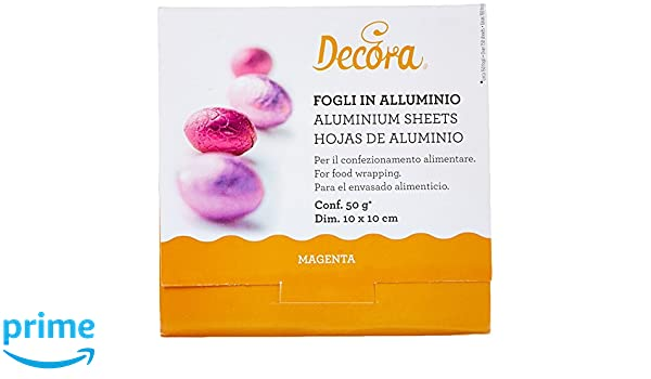 Aluminio Color Dorado 10/x 10/cm 50/g DECORA Decorar 0796202/Hojas