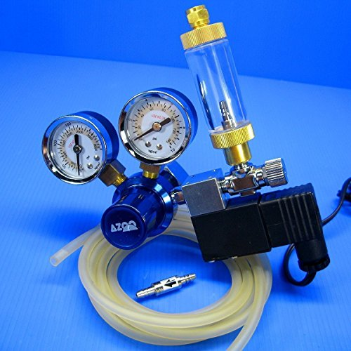 AZOO CO2 Pressure Regulator System- Magnetic Solenoid Bubble Counter CHECK VALVE tank Aqua Co2 System