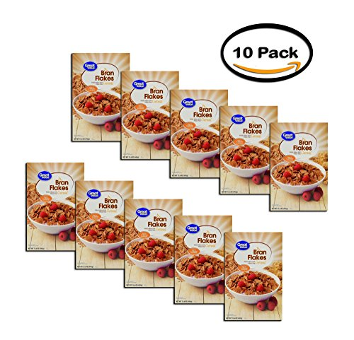 PACK OF 10 - Great Value Bran Flakes Cereal, 15.6 oz ()