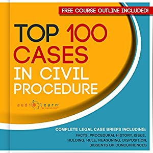 Top 100 Cases in Civil Procedure: Legal Briefs Audiobook