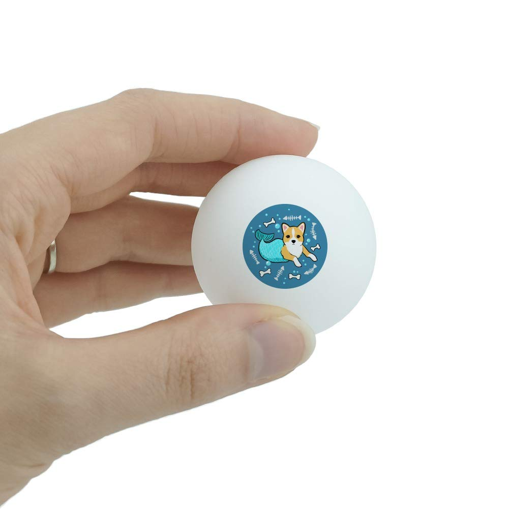 GRAPHICS /& MORE Merdog Mermaid Dog Novelty Table Tennis Ping Pong Ball 3 Pack