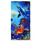 SURPRISE PIE Sea Turtle Beach Towel Ocean Animal Funny