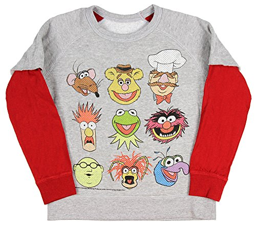 The Muppets Youth Boys' Reversible 9 Character/Animal Lets Party Pullover 5/6