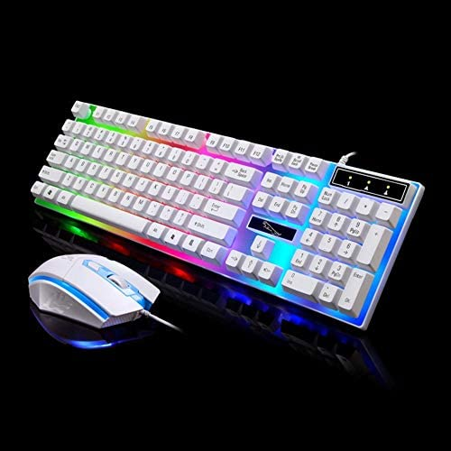 Keyboard G21 Game Luminous Wired USB Mouse and Keyboard Suit with Rainbow Backlight LED Lights Mechanical Keyboard Gaming Mouse