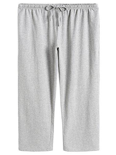 - Latuza Women's Cotton Capri Pants Sleep Capris M Light Gray