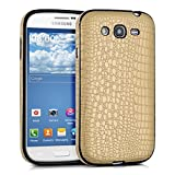 kwmobile Croco-style case for Samsung Galaxy Grand Neo / Duos - TPU Silicone case mobile cover Protective case in gold