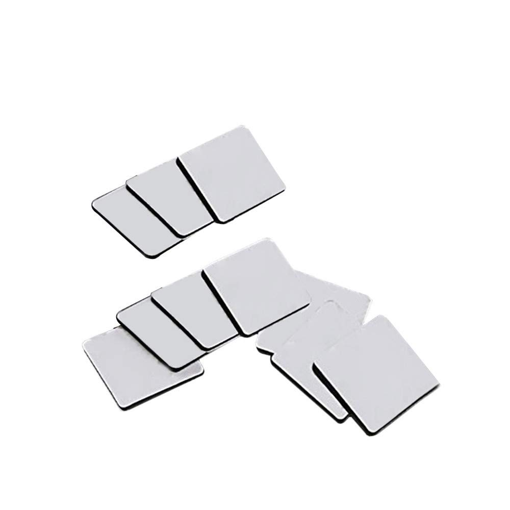 Ecurson 10pcs Double Sided Tape Heavy Duty, Two Sided Adhesive Tape Clear Yards Outdoor Acrylic Sticker Thin Weatherproof Ultra Strength Mounting Tape (A)