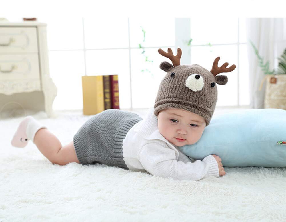 Amorar Baby M/ütze Winterm/ütze Junge M/ädchen Nette Strickm/ütze Kleinkind Wendem/ütze Jersey Beanie mit Rotwild Geweih Weihnachtshut Warmer Earflap-Hut,EINWEG Verpackung